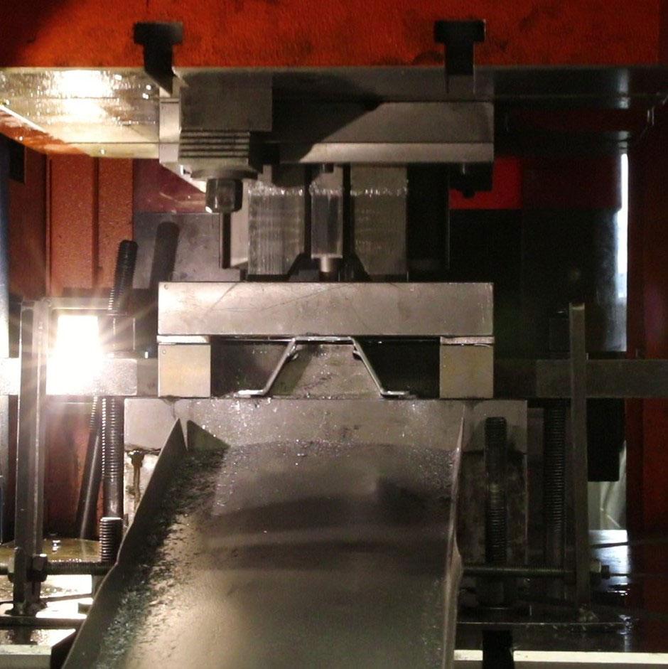 Découpage de tôle métallique